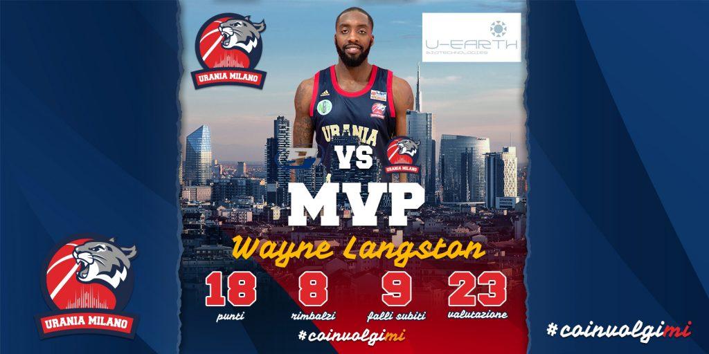 Wayne Langston MVP della 13^ Giornata By U-Earth