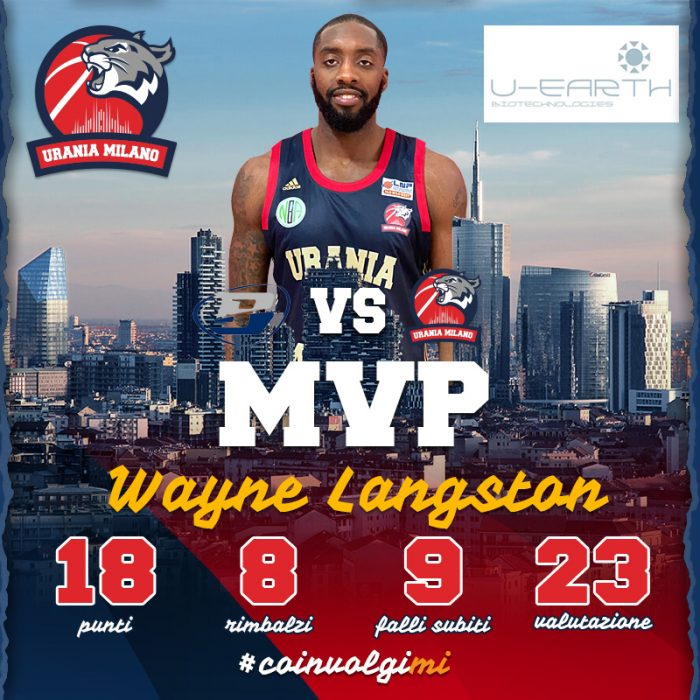 Wayne Langston MVP della 13^ Giornata By U-Earth