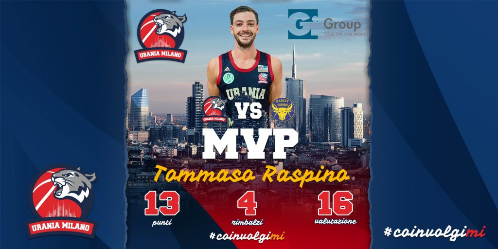 Tommaso Raspino MVP della 12^ Giornata By Gi Group
