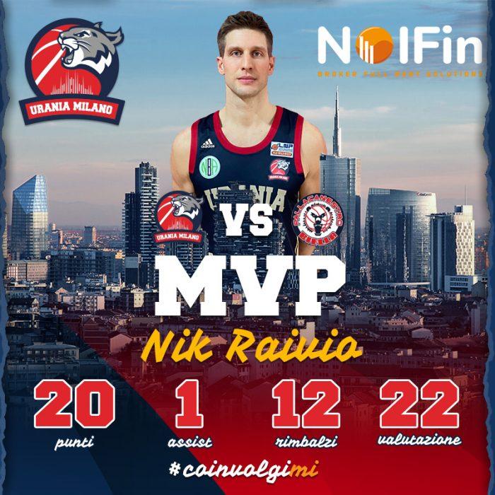 Nik Raivio MVP della 20^ Giornata By NOLFIN