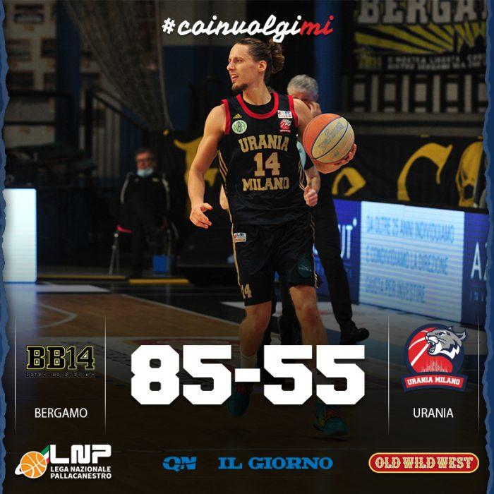 Urania netto KO a Bergamo, i Wildcats crollano nella ripresa, 85-55