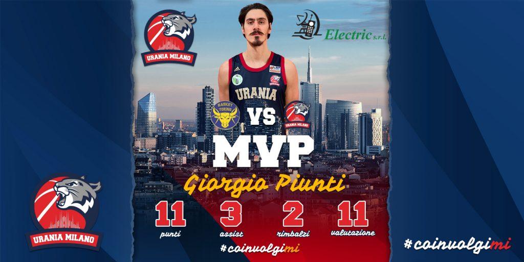 Giorgio Piunti MVP della 25^ Giornata By ELECTRIC SRL