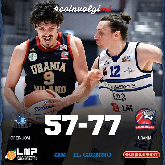 Urania si regala un gran finale di regular season, Wildcats sul velluto ad Orzinuovi, 57-77