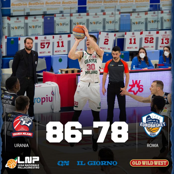 Urania blinda l'Allianz Cloud, battuta Roma 86-78