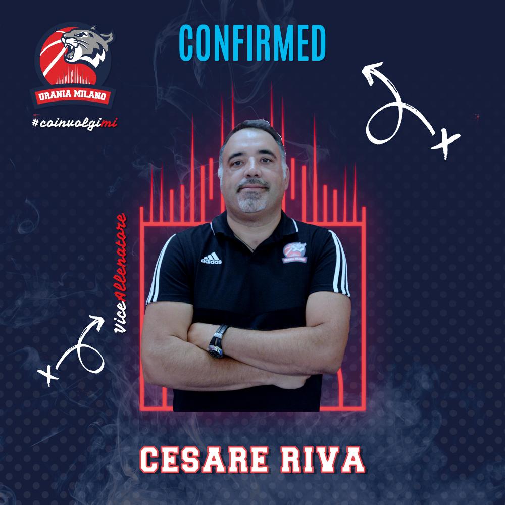 Cece Riva confermato nello staff tecnico di Urania