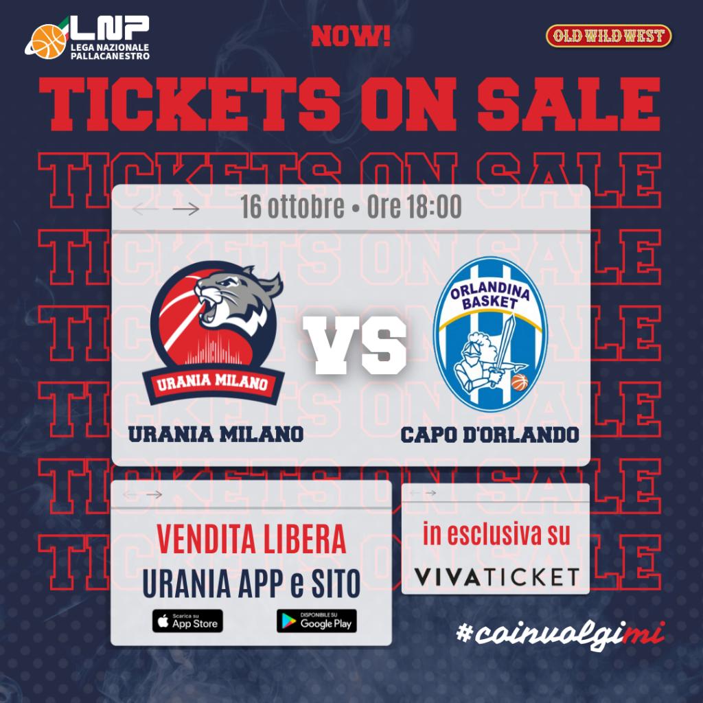 Tickets on sale – Vendita Libera Urania-Capo d'Orlando